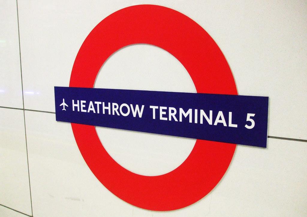 Aéroport Londres Heathrow Station Métro