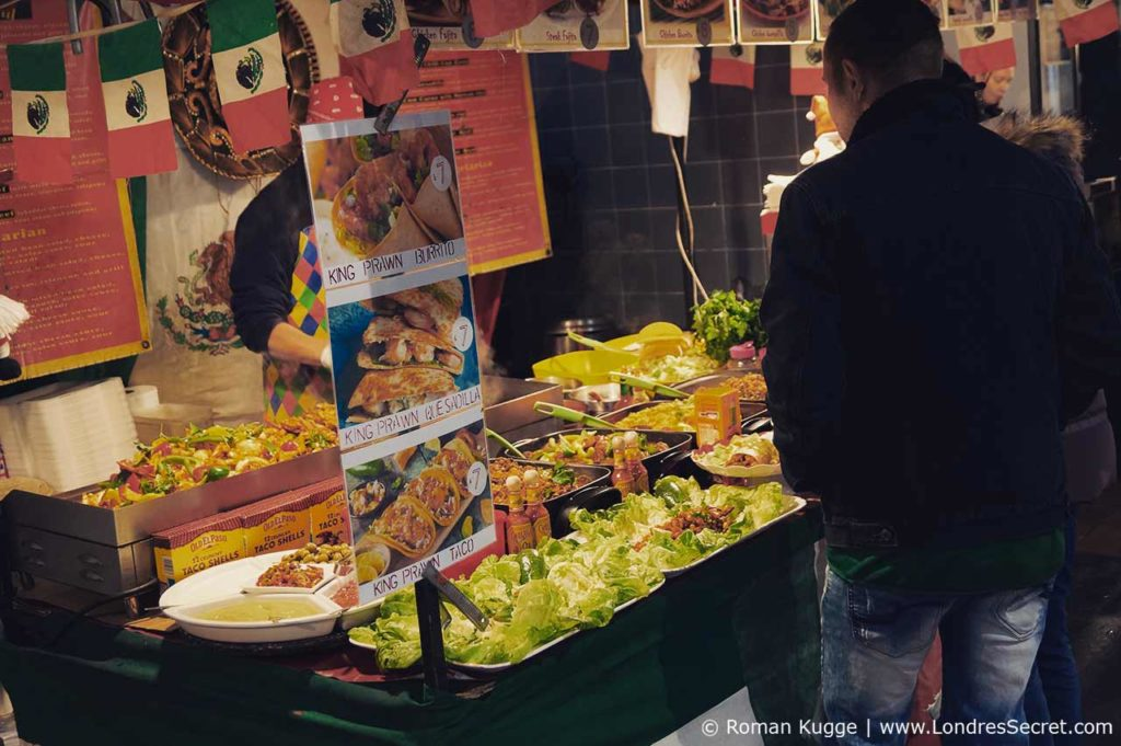 Marché street food Brick Lane Londres Sunday Upmarket
