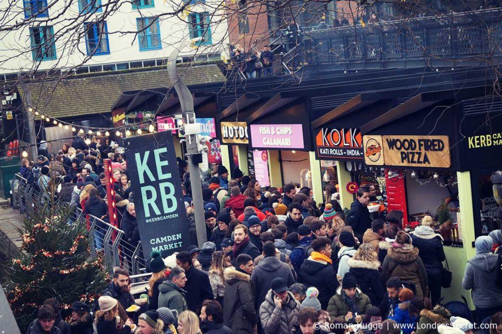Camden Town Londres KERB Street Food Market Marché