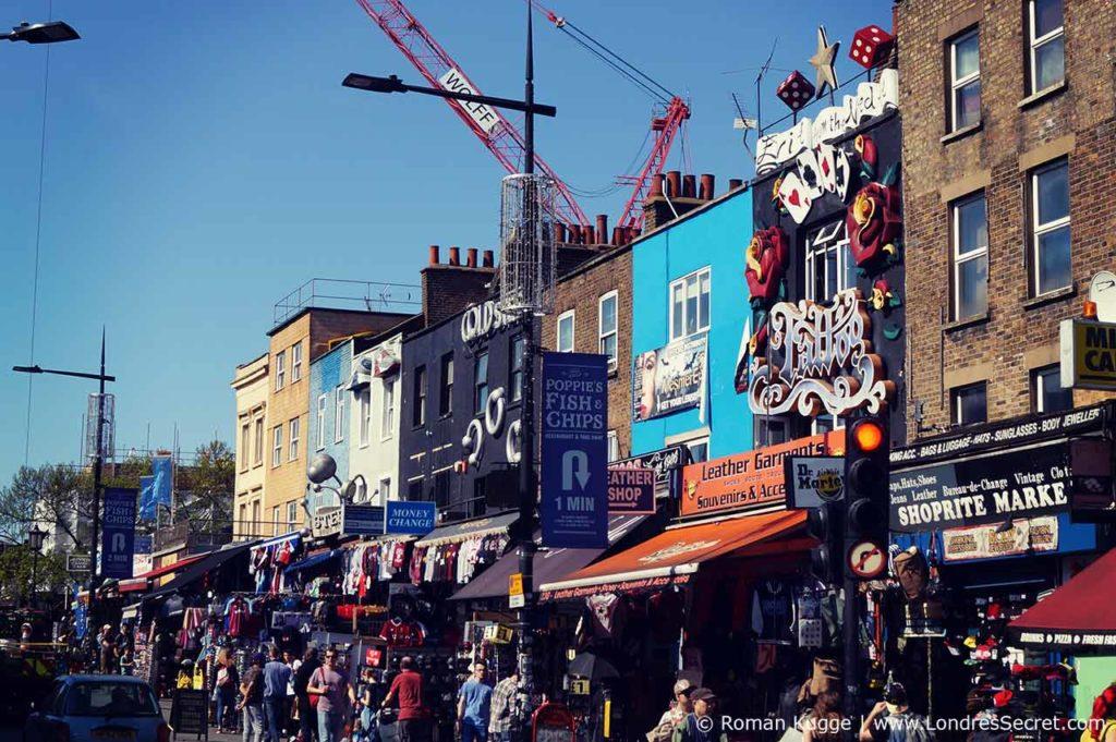 Camden Town Londres Rue Principale Camden High Street Boutiques