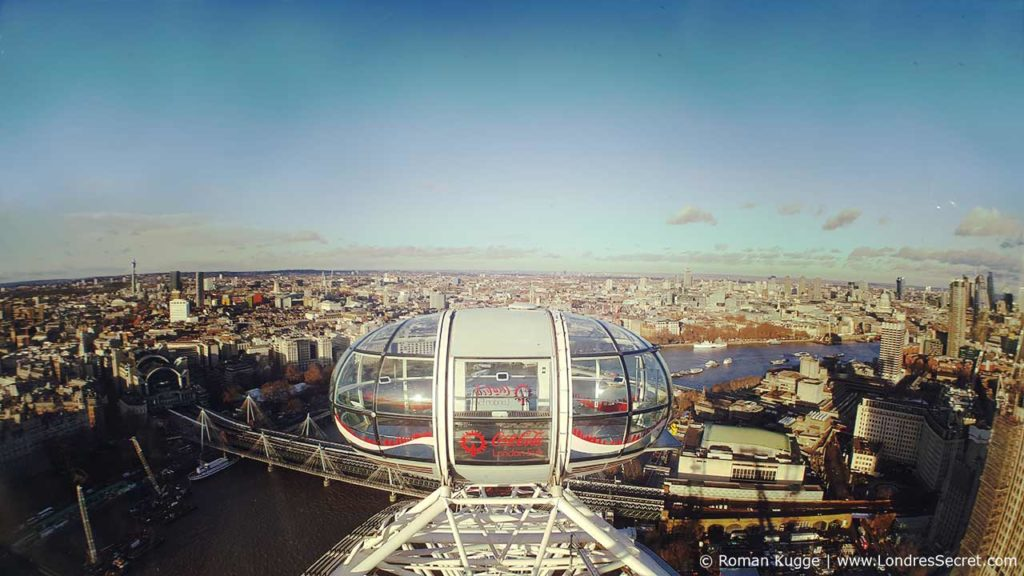 London Eye Grande Roue Londres Vue Cabine