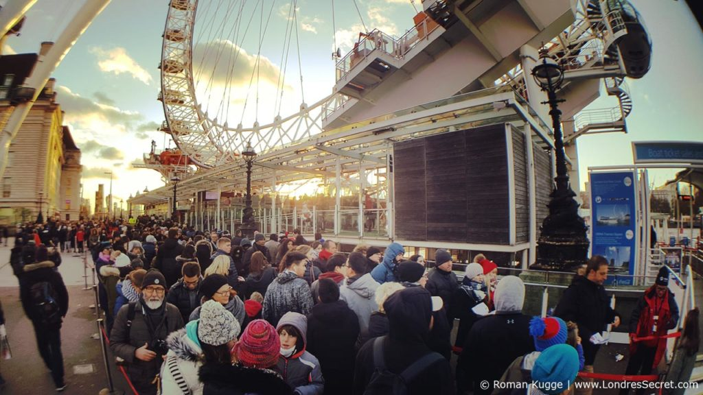 London Eye Grande Roue Londres Temps d'attente