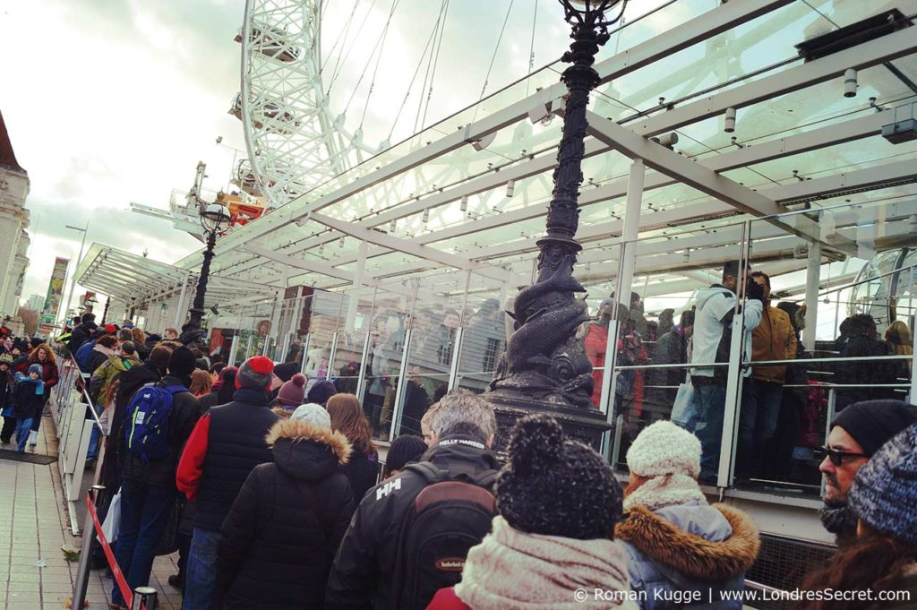 London Eye Grande Roue Londres file d'attente