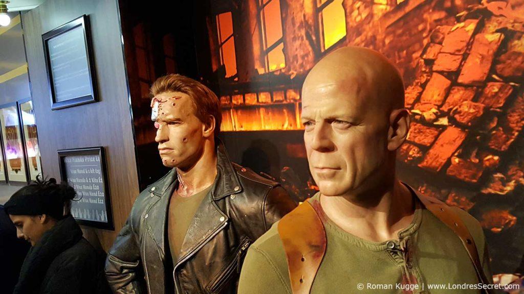 Madame Tussauds Londres Schwarzenegger Bruce Willis