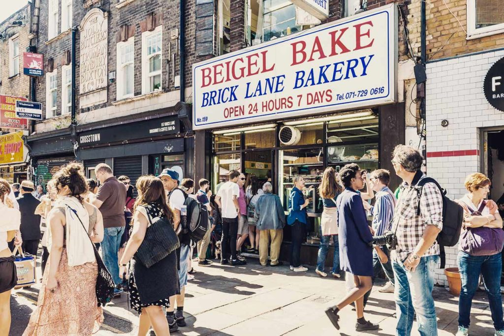Marché Brick Lane Market Londres Beigel Bake Bakery