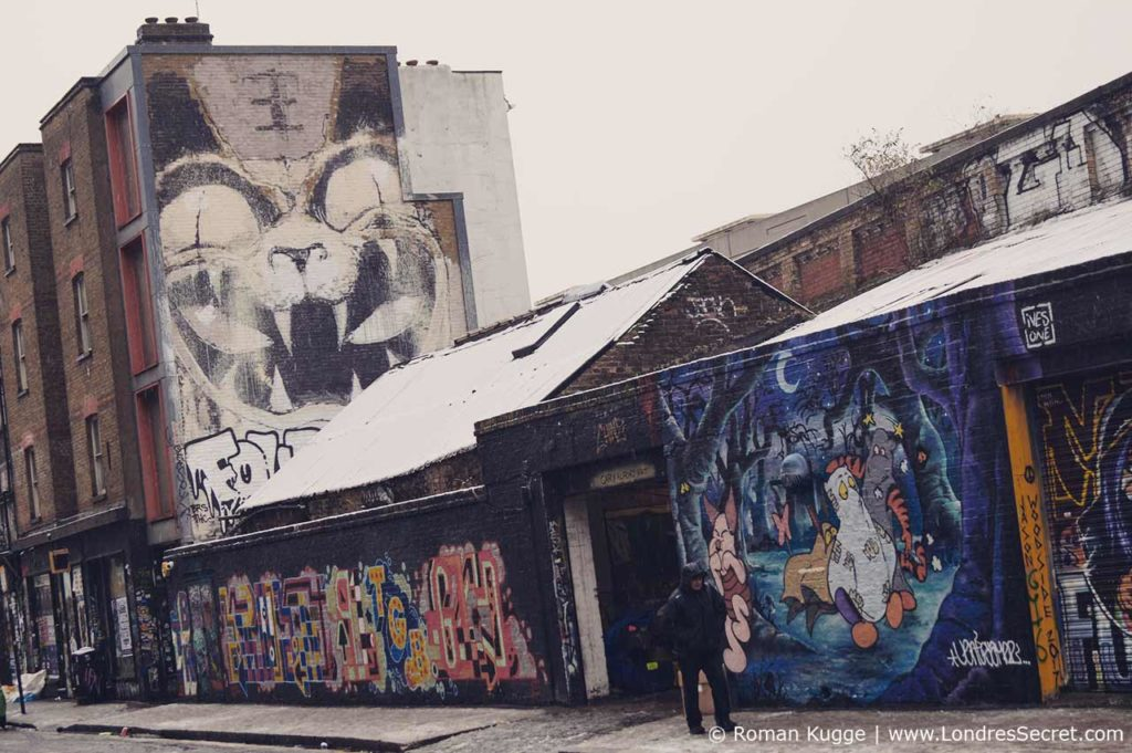 Marché Brick Lane Market Londres Street Art Graffiti