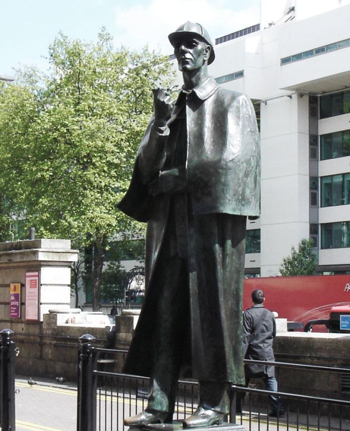 Statue Sherlock Holmes Londres