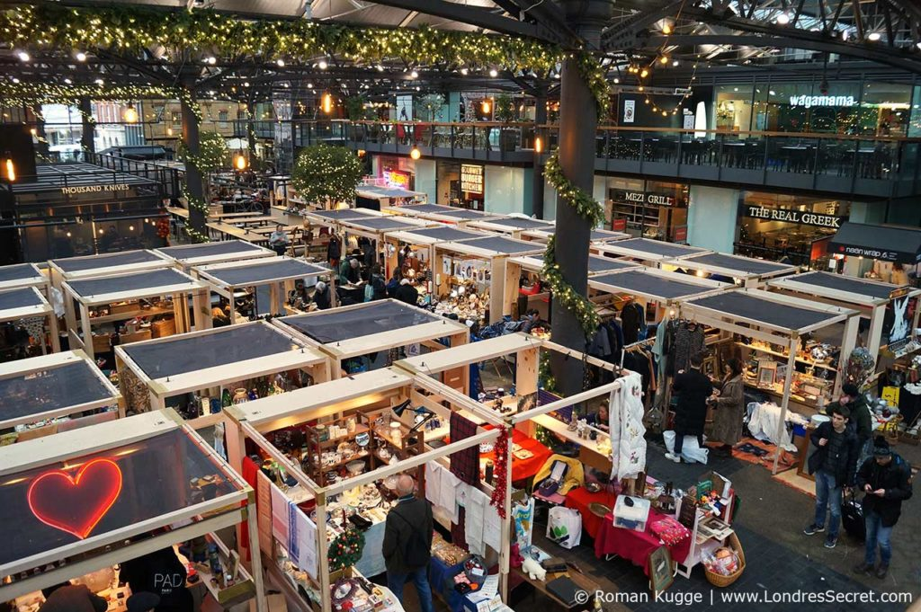 Marche Old Spitalfields a Londres a Noel