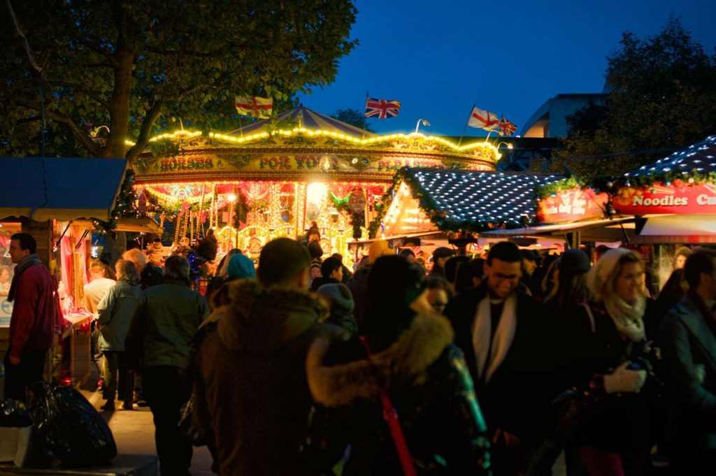 Marche de Noel Londres South Bank Centre Winter Fest