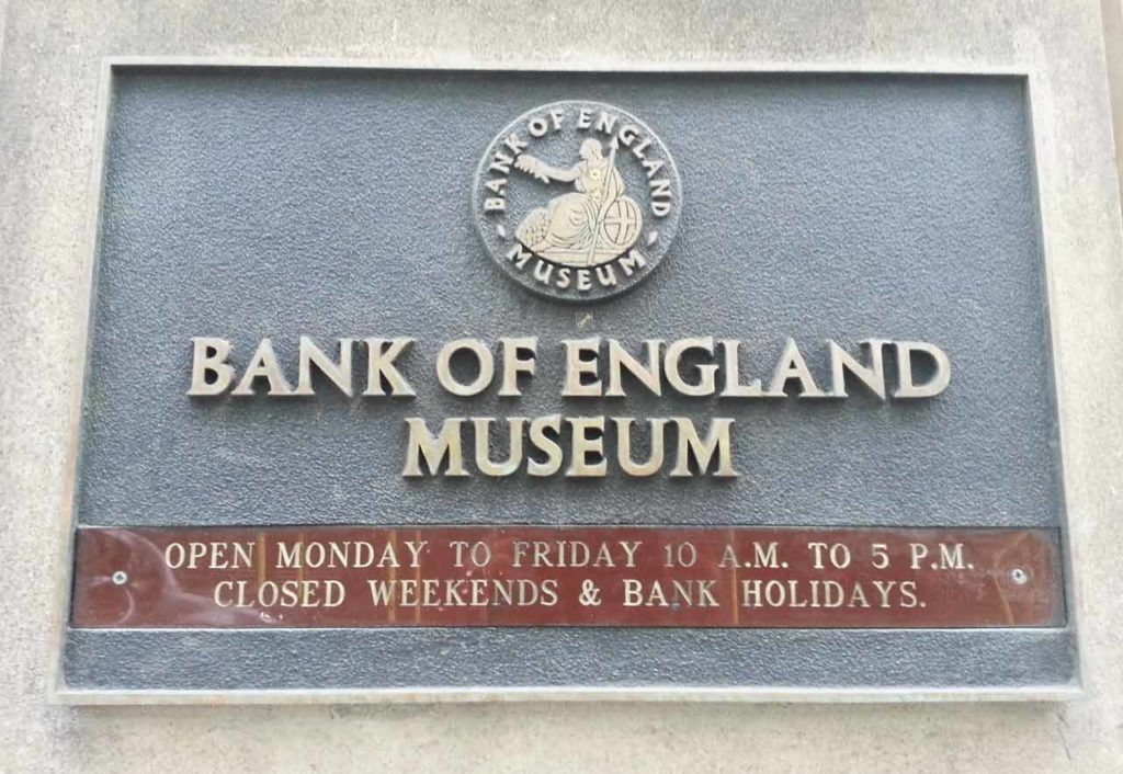 Bank of England Museum Londres