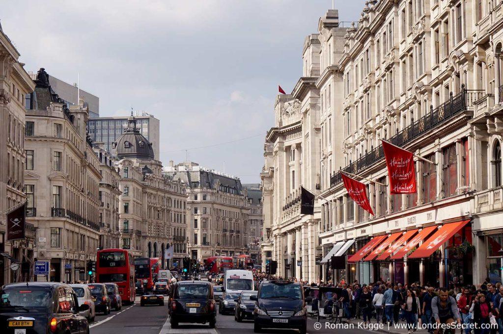 Oxford et Regent Street Londres