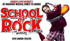 School of Rock comédie musicale Londres