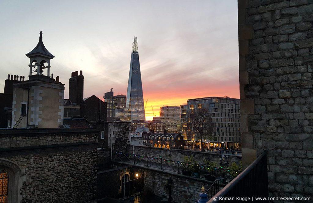 Tour de Londres Coucher du soleil