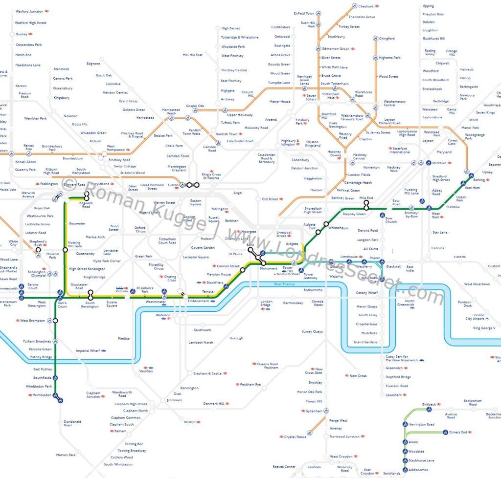 Métro Londres Paques 2019