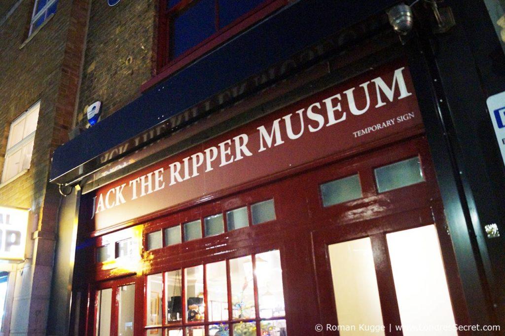 Musée Jack L'Éventreur Londres Entrée