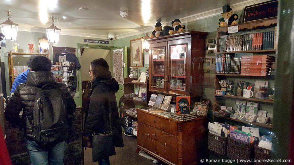 Musée Jack L'Éventreur Londres Boutique