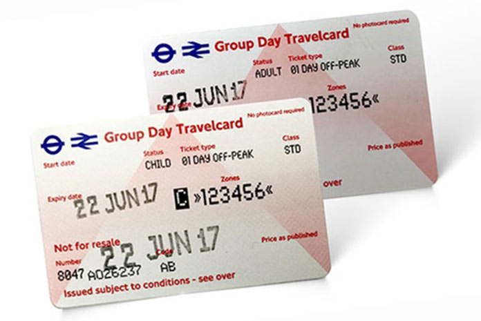 Ticket groupe classes scolaires métro Londres Group Day Travelcard