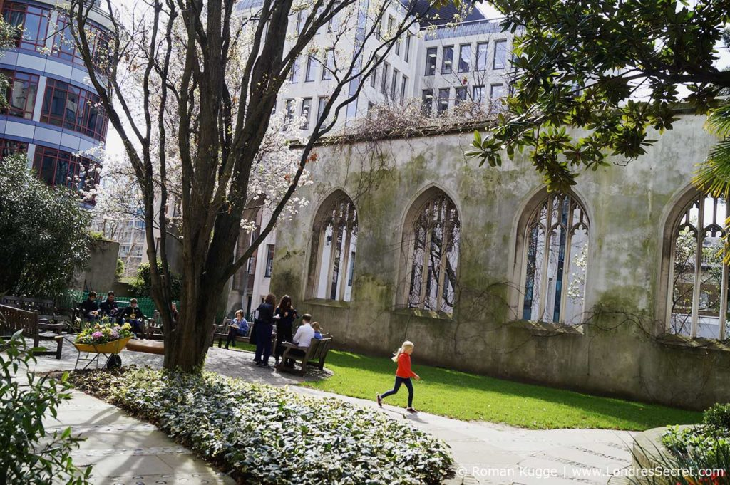 Saint Dunstan in the East église ruine à Londres