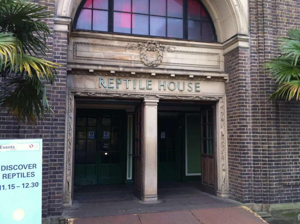 Reptile House Zoo de Londres lieu de tournage Harry Potter