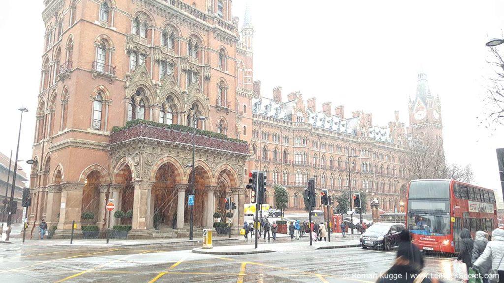 St Pancras Renaissance Hotel Londres Neige