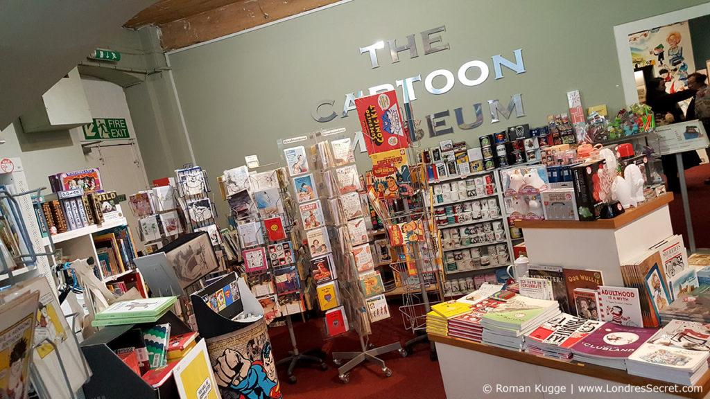 Magasin de souvenirs Cartoon Museum Londres