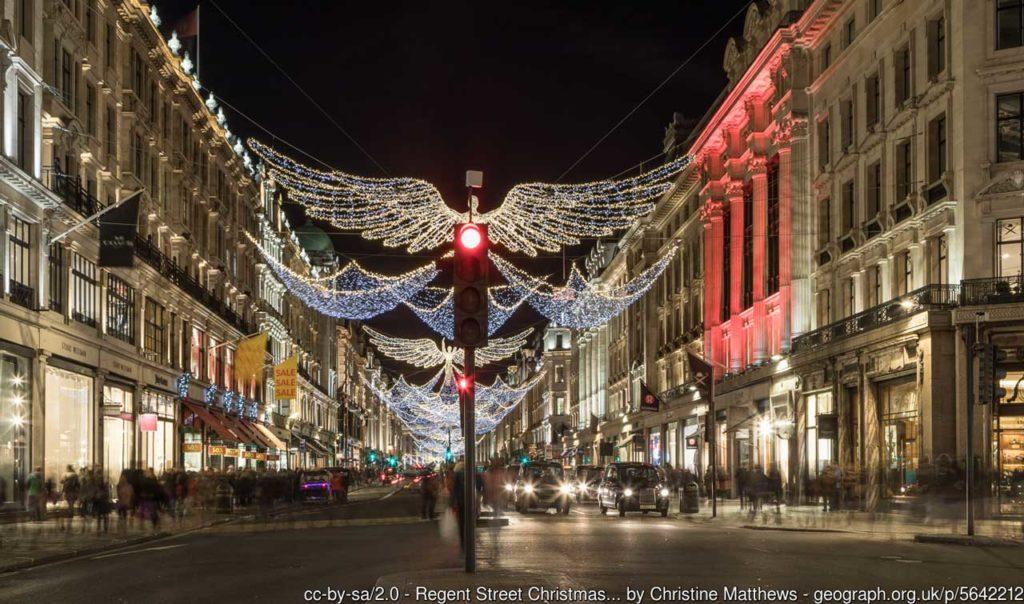 Illuminations de Noël Regent Street à Londres