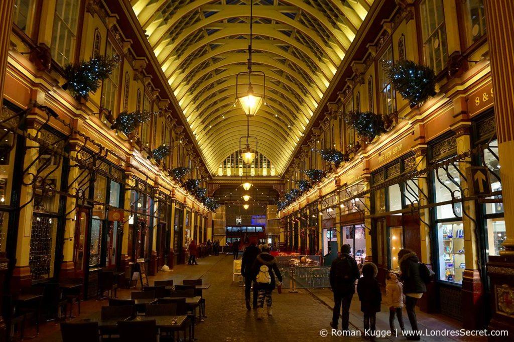 Leadenhall Market Londres à Noël