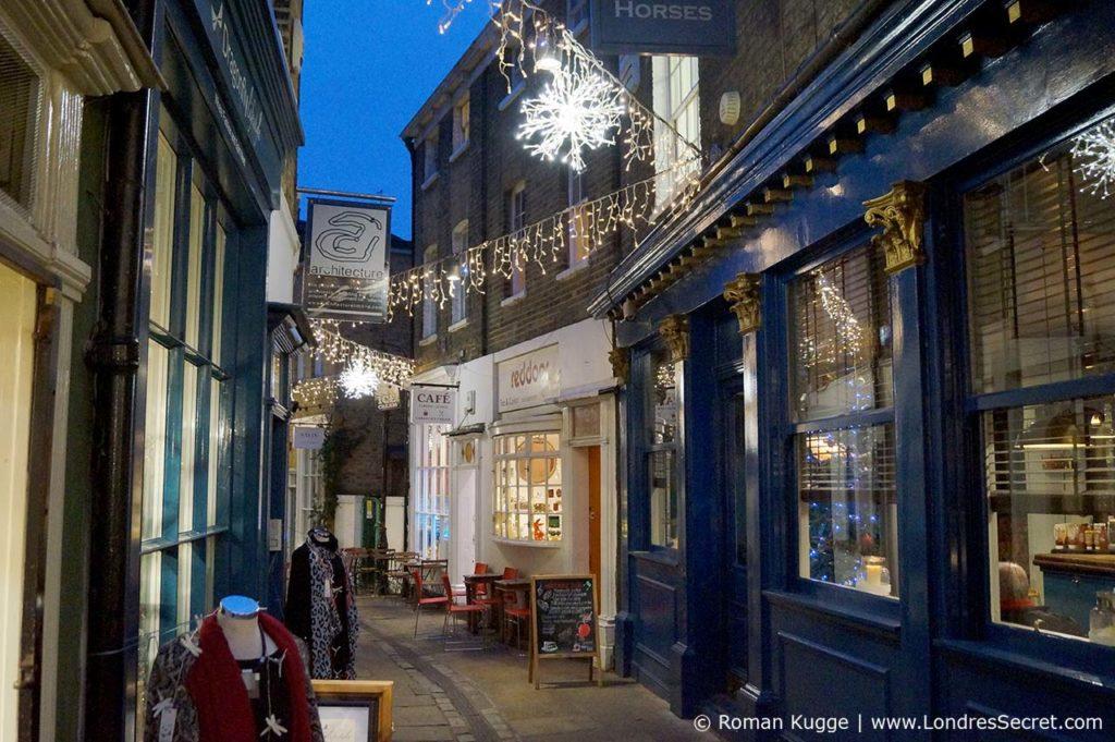 Marché de Greenwich à Noël (illuminations)