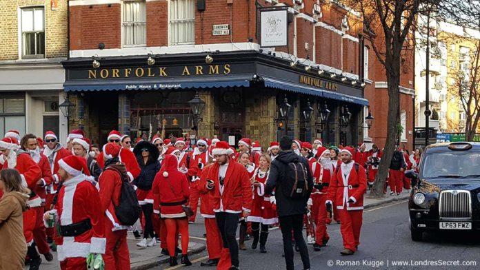 Santa Con Santa Run Père Noel à Londres