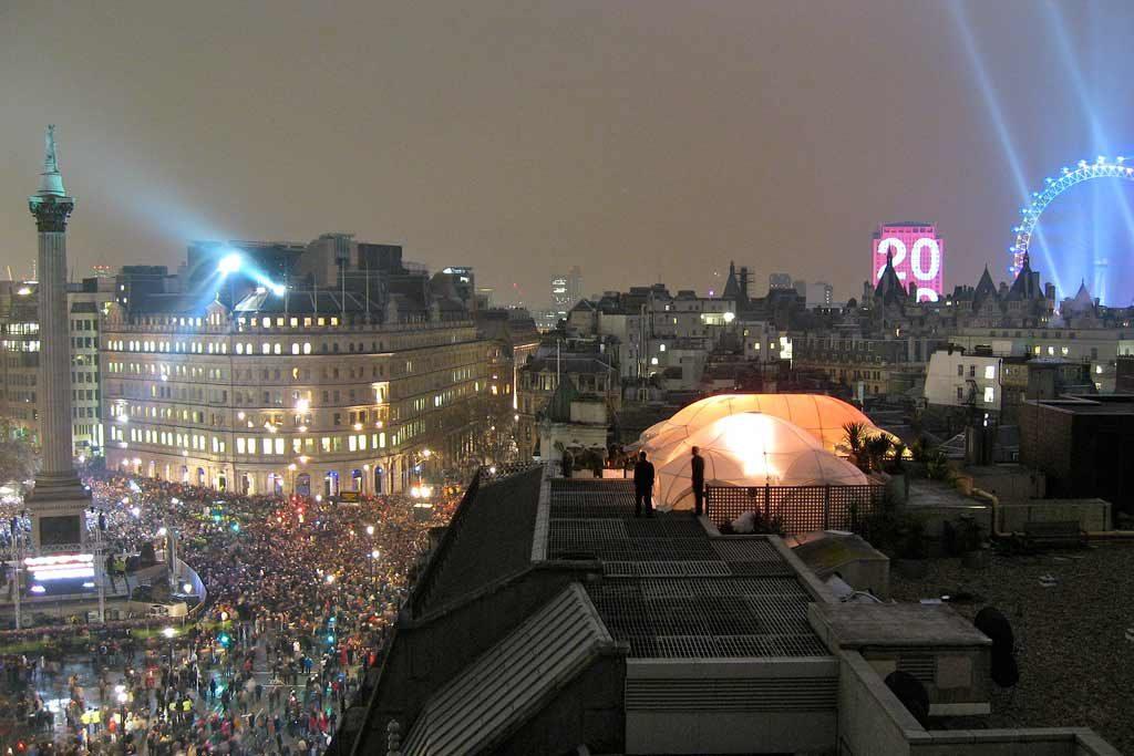 Trafalgar Square Londres Nouvel An