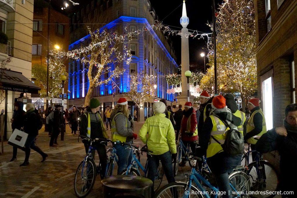 Visite des illuminations de Noël à Londres