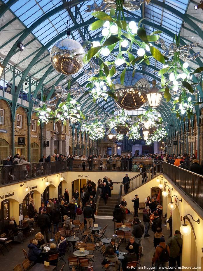 Apple Market à Covent Garden à Noël