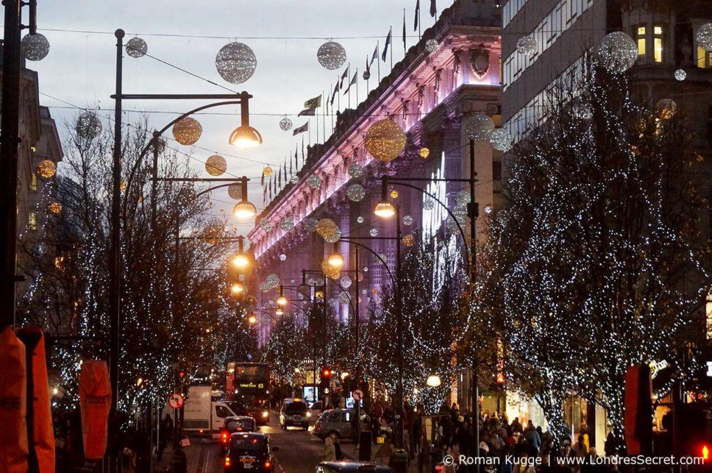 Illuminations de Noël Londres Oxford Street
