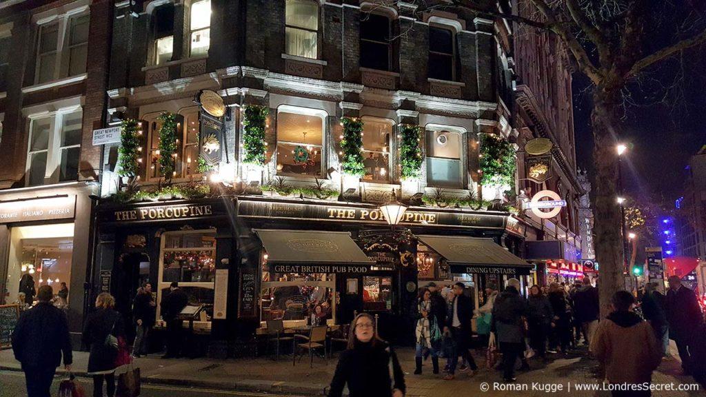 Pubs à Noël à Londres