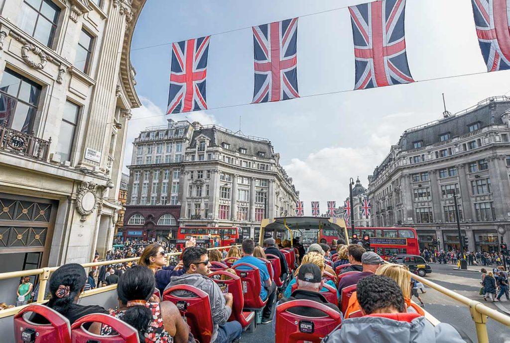 Bus touristique Londres
