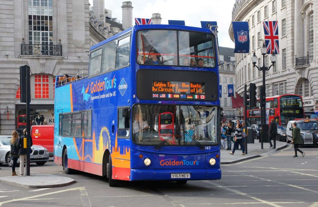 Bus touristique Londres Golden Tours