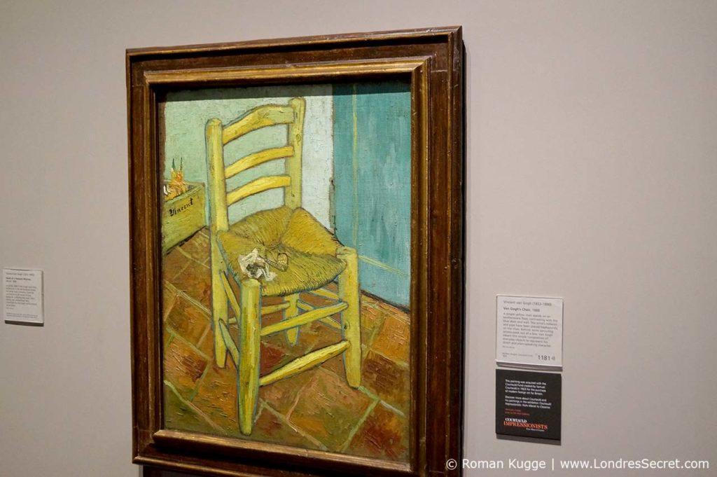National Gallery à Londres Chaise de Vincent avec pipe