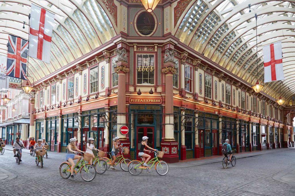 Visite de Londres en vélo Leadenhall Market