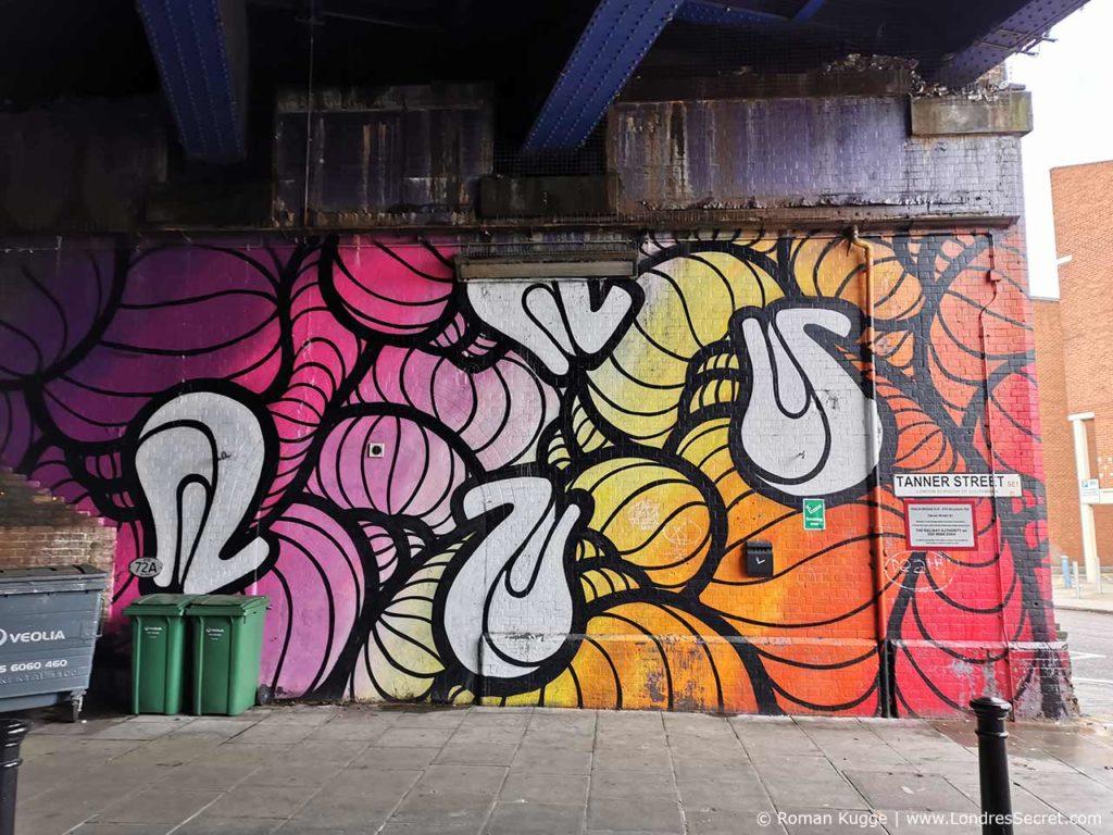 Graffiti Marché Maltby Street Market à Londres
