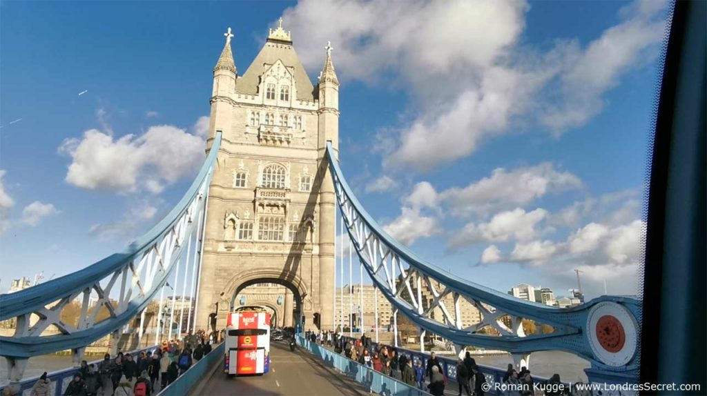 Tower Bridge en bus